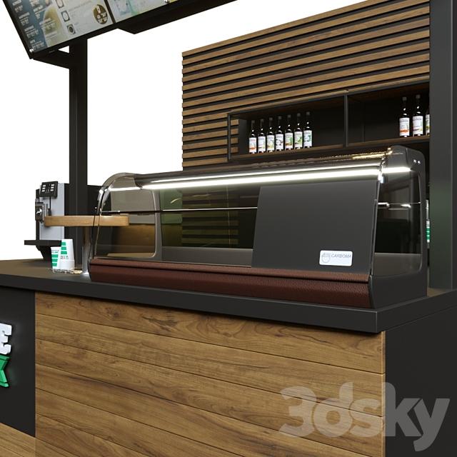 Bar counter coffee like