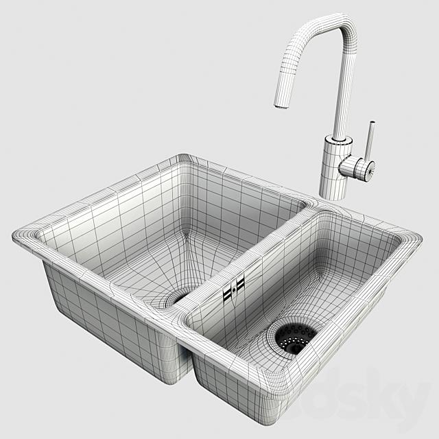 Mixer ELMAREN, sink HILLESHEN, IKEA