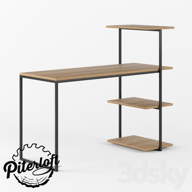 Table with shelves Evans