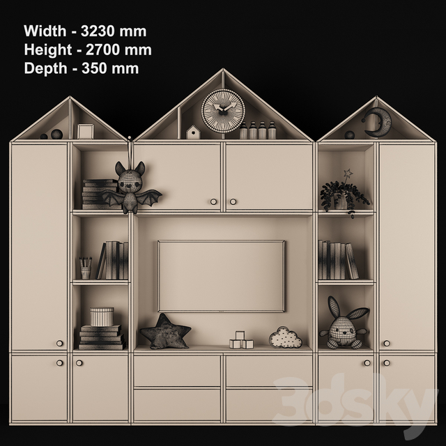 Furniture composition for children's room 73