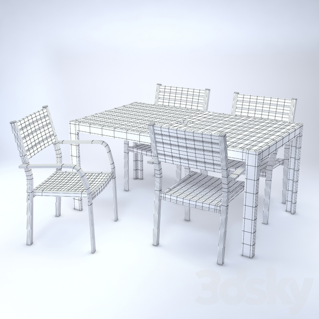 IKEA SJALLAND Table and chair