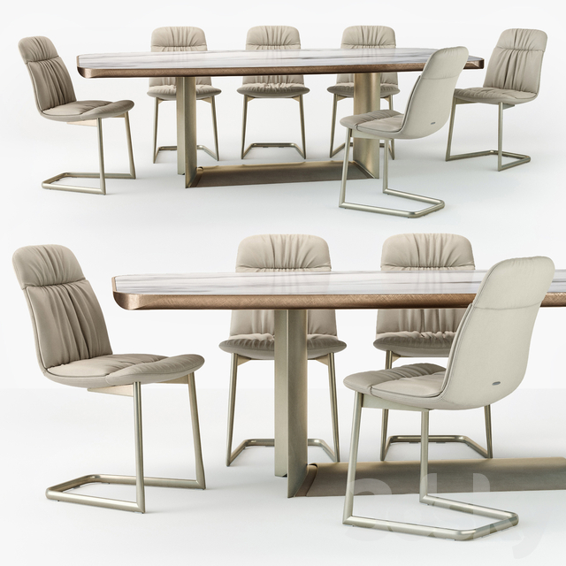 Cattelan Italia Kelly chair Dragon table