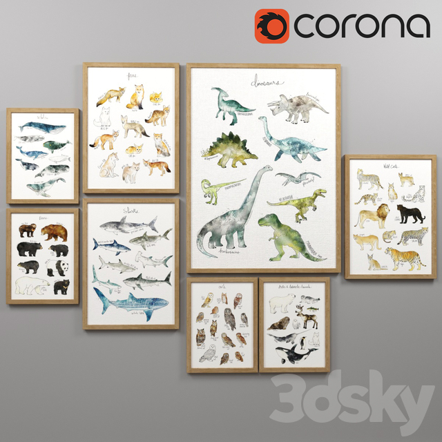 A set of posters for the nursery