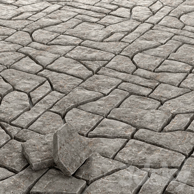Paving old rock stone / Old rock stone paving