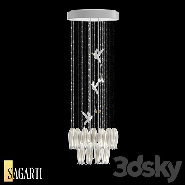Suspended Sagarti Alba lamp, art. Al.R.50 (OM)