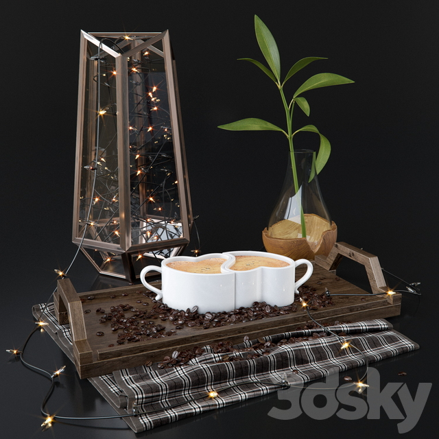 Coffee Beans Decorative Set