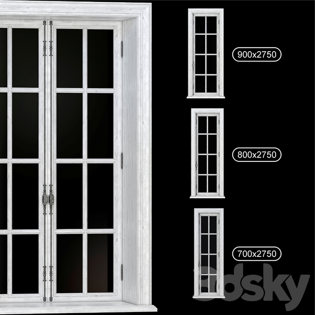 PART_2 COLLECTION FRENCH WINDOWS 700-900 mm (V-ray_Corona)