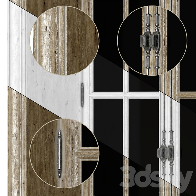 PART_1 COLLECTION FRENCH WINDOWS 1000-2000 mm (V-ray_Corona)