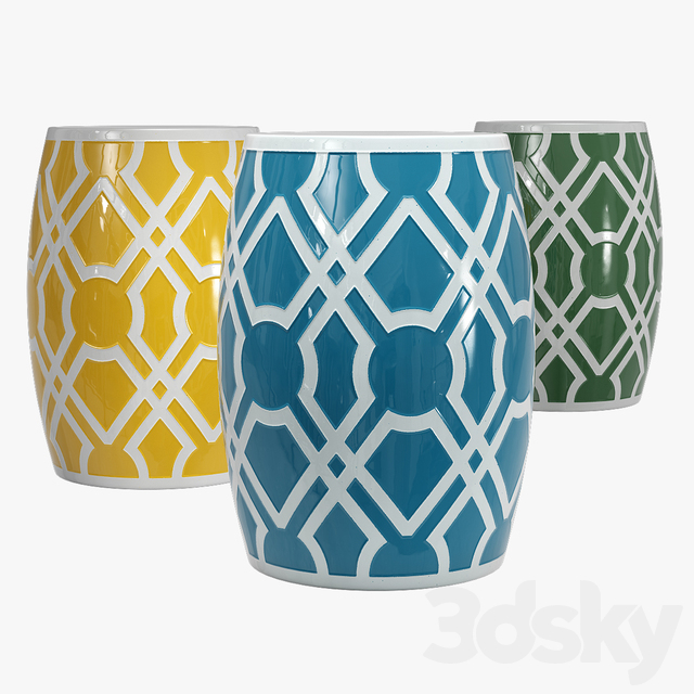 Emissary home labyrinth garden stool