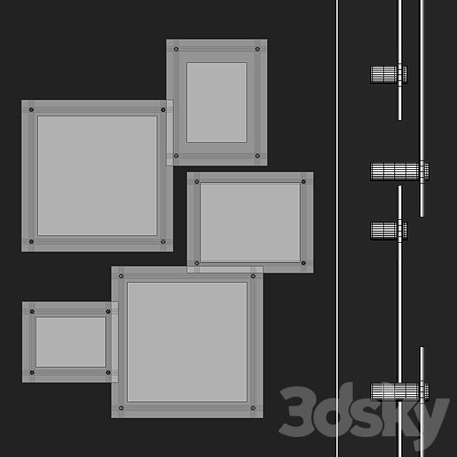 Acrylic Gallary Frames Set 01