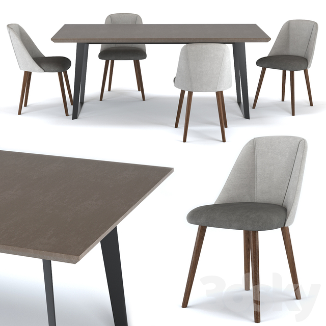 Boone 8 Seat Dining Table & Lule Dining Chair by Made