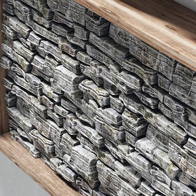 Panel stone frame / Panel in frame stone