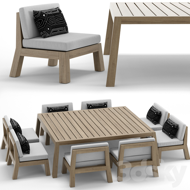 RH Outdoor Bonaire table-chair
