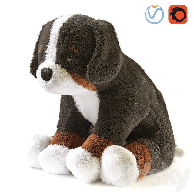HOPPIG Bernese Shepherd White Soft Toy