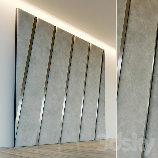 Decorative wall. Soft panel. 66