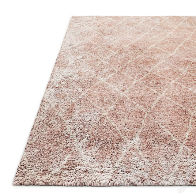 Sketched Diamond Hand-Knotted Shag Rug Baby and Child RH