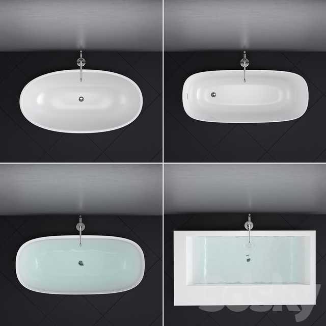 Antoniolupi set 45 (Ago, Biblio, Dafne, Reflexmood) freestanding bathtub