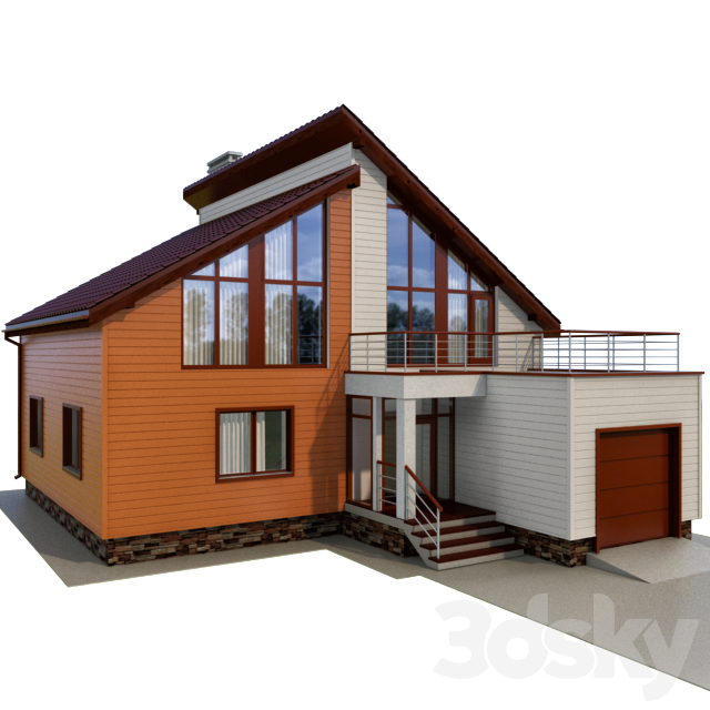 Cottage with siding