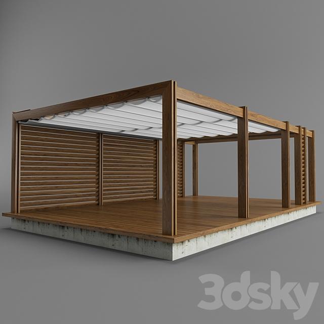 Pegola Corradi_outdoor living space