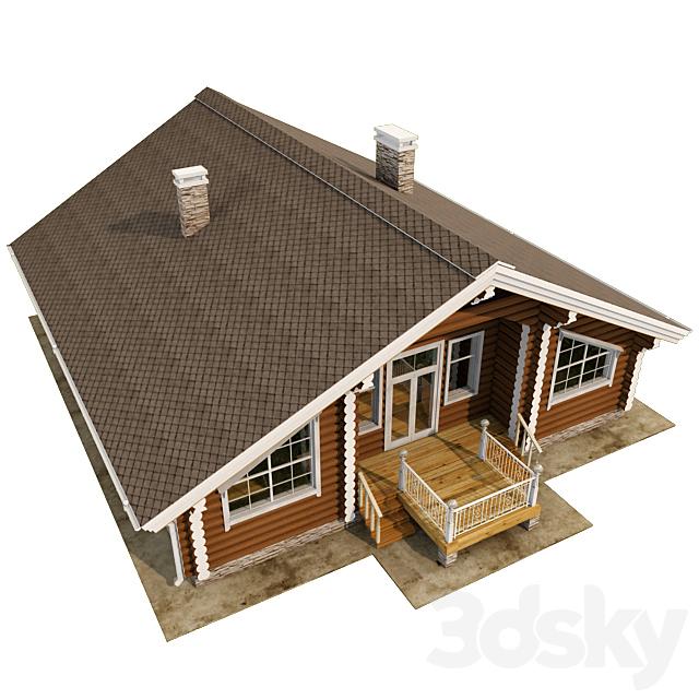 Log house (rounded log)