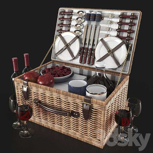 NEWBURY picnic basket decor set | Newbury Decorative Picnic Set