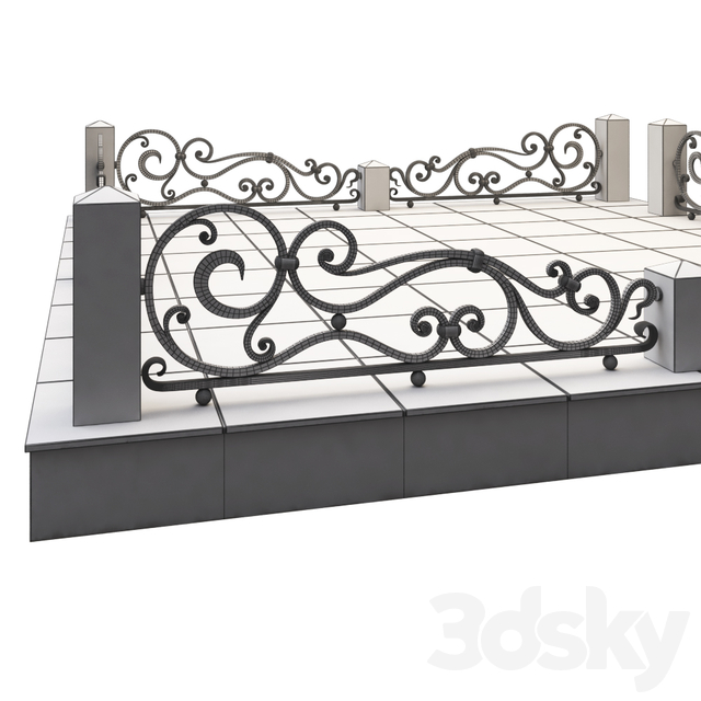 Wrought iron fence for the monument