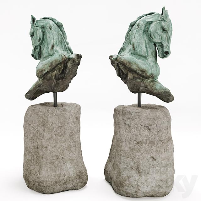 Stephanie Revennaugh Horse Bust Sclupture