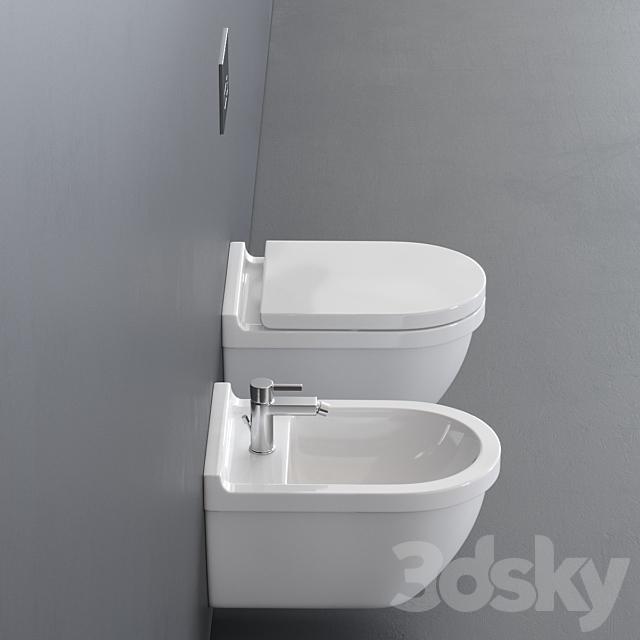 Duravit Starck 3 Wall-hung WC