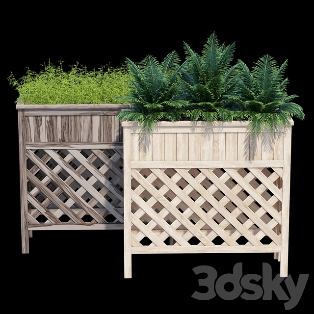 Raised patio planter 36