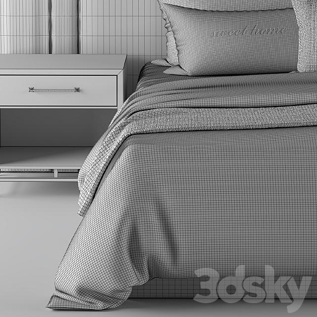 Bed-Set Cream & Black