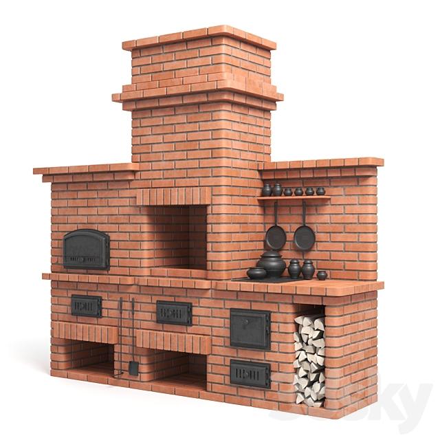 BBQ brick oven
