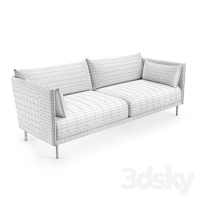 Hay Silhouette three-seater sofa