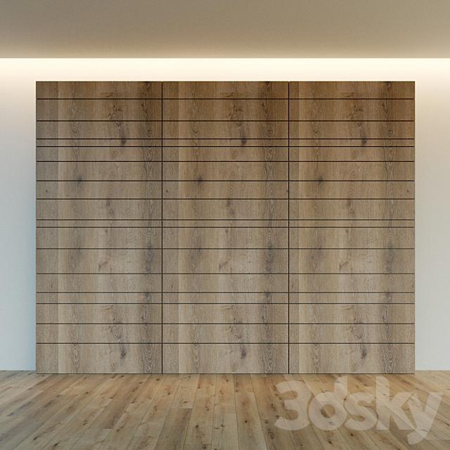 Wall panel made of wood. Decorative wall. 26