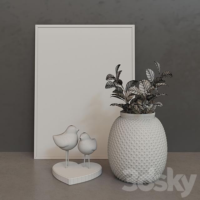 Decorative set Lovely Birds