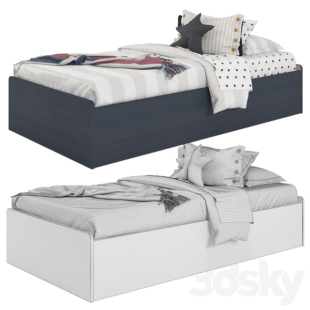 Bed from South Shore Aviron Collection