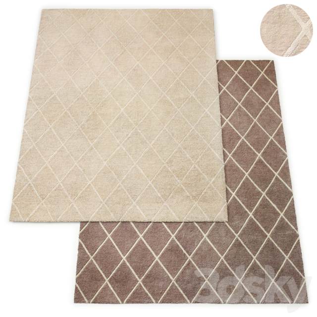 Classic Trellis Hand-Tufted Rug RH Collection