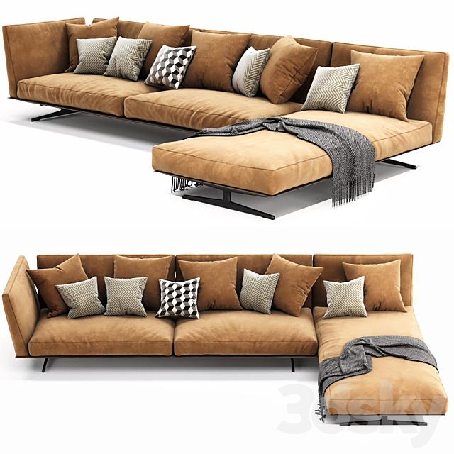 Flexform Evergreen Chaise Lounge