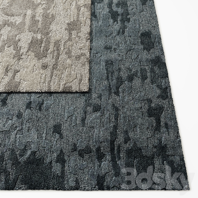 Camo Hand-Tufted Wool Rug RH Collection