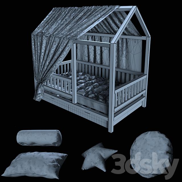 Children_bed_house