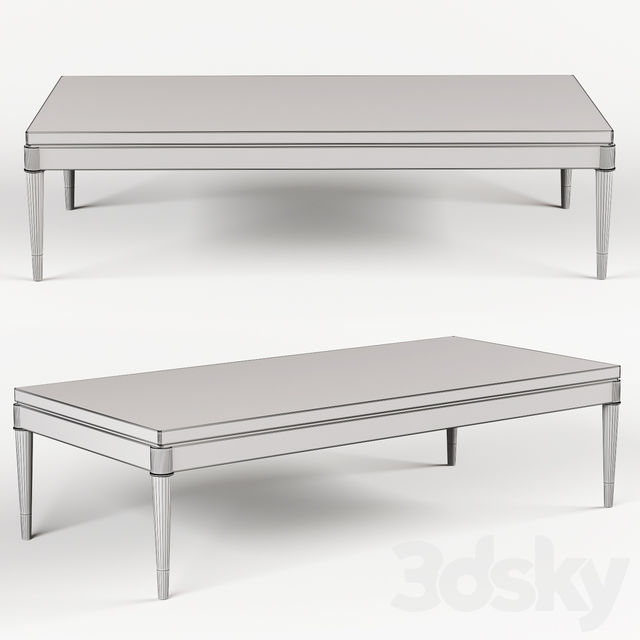 Coffee table Jonathan Charles Fine Furniture JC Modern - Fusion Collection 500198-ENO-M025