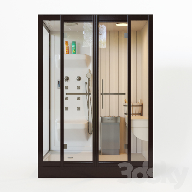 Banff S-45R shower cabin with sauna