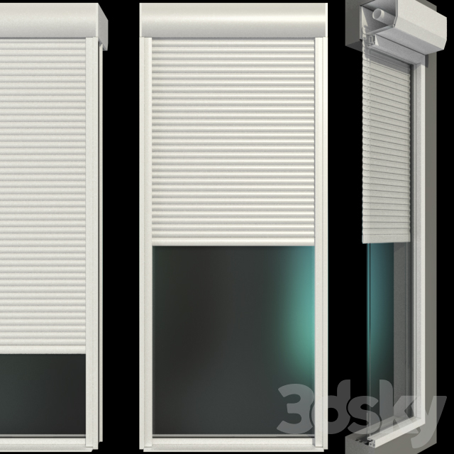Stained glass windows with shutters