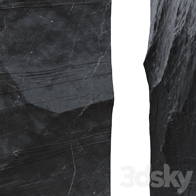 Black stone.