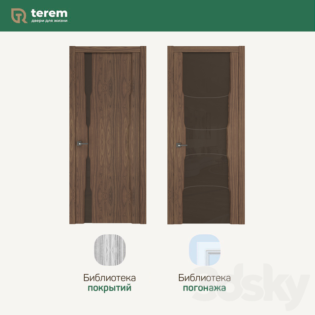 "Factory of interior doors ""Terem"": model Solo12 / Solo11 (collection Standart)"