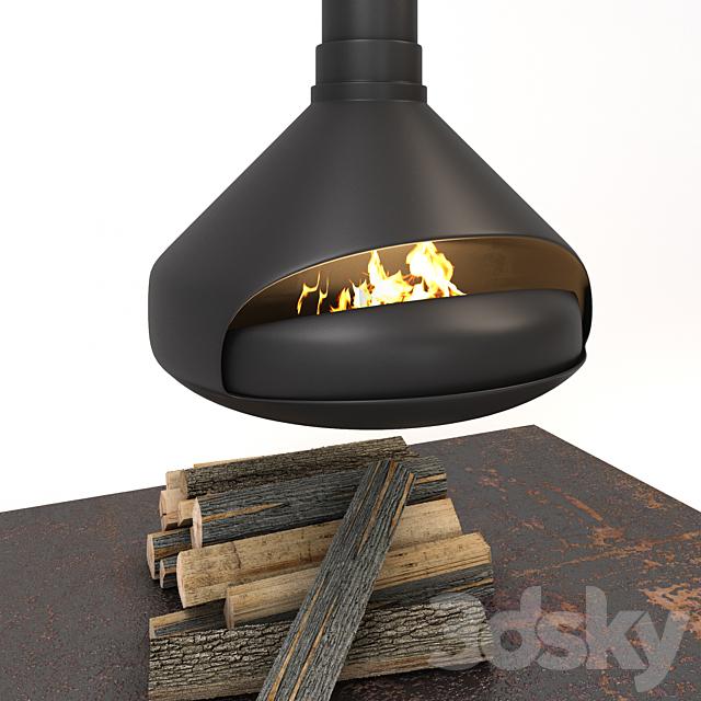 Hanging fireplace Ergofocus