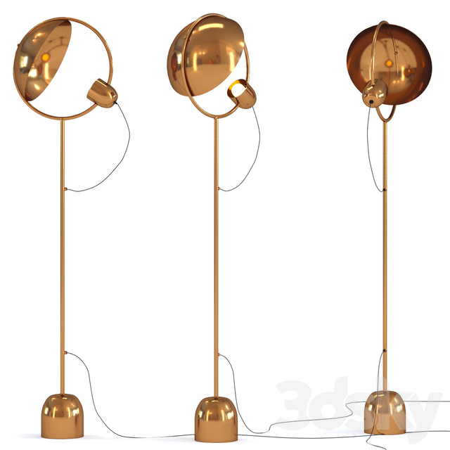 Floor Lamp Reflector Brass