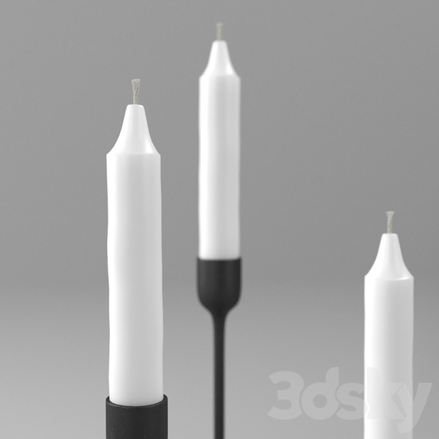 ikea FULLTALIG candlestick and ikea JUBLA candle