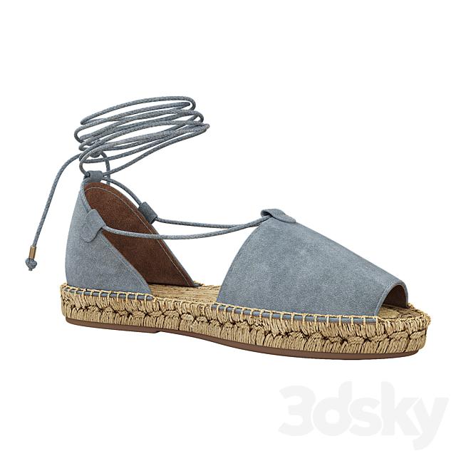 Lace up Espadrilles Alma Blue Sandals