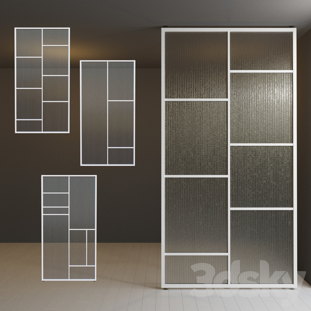 Glass partition door 31