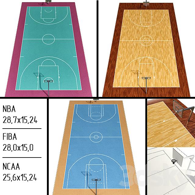 Basketball Court (NBA / FIBA / NCAA)